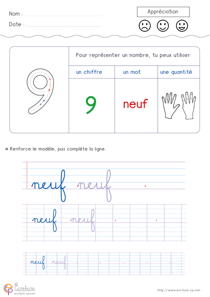 Crire les nombres de 1 10 en lettres fiche d 39 criture - Experte en composants 15 lettres ...