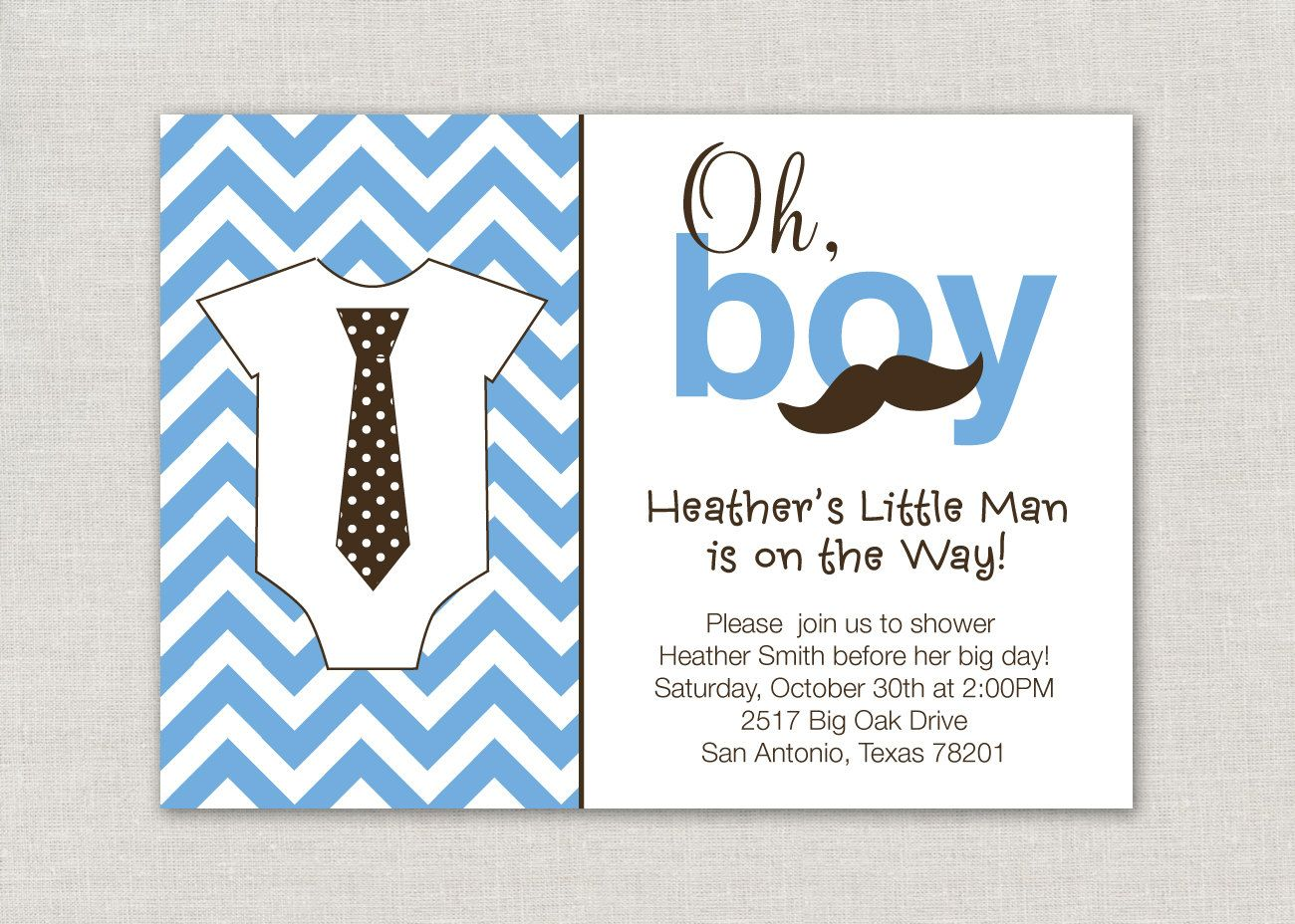 little man theme baby shower | Baby Shower Oh Boy A Little Man is On ...