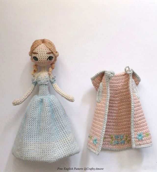 Amigurumi Princess Doll in Cape Crochet Free Pattern | muñequitas ...