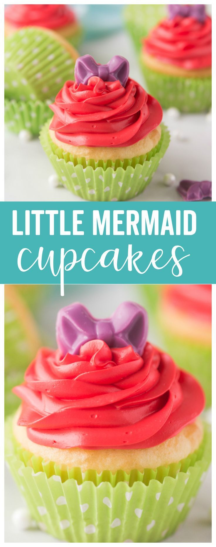 Little Mermaid Cupcakes are the perfect tasty cupcake treat for any Ariel, The Little Mermaid, party! Mermaid Cupcakes are the perfect tasty cupcake treat for any Ariel, The Little Mermaid, party!