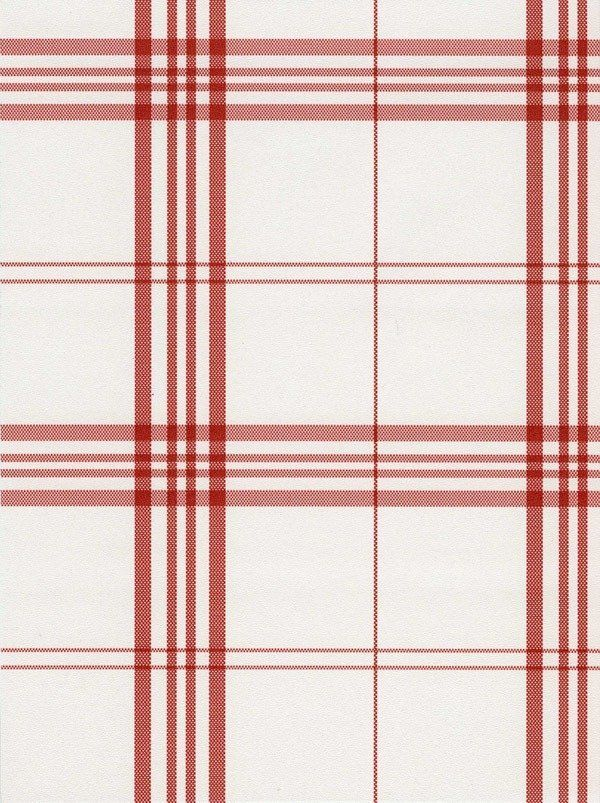 red white windowpane plaid wallpaper double roll bolts wallpaper
