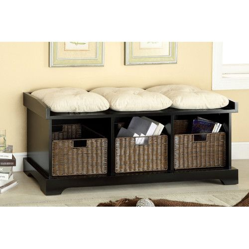 Hokku Designs Upholstered Storage Entryway Bench