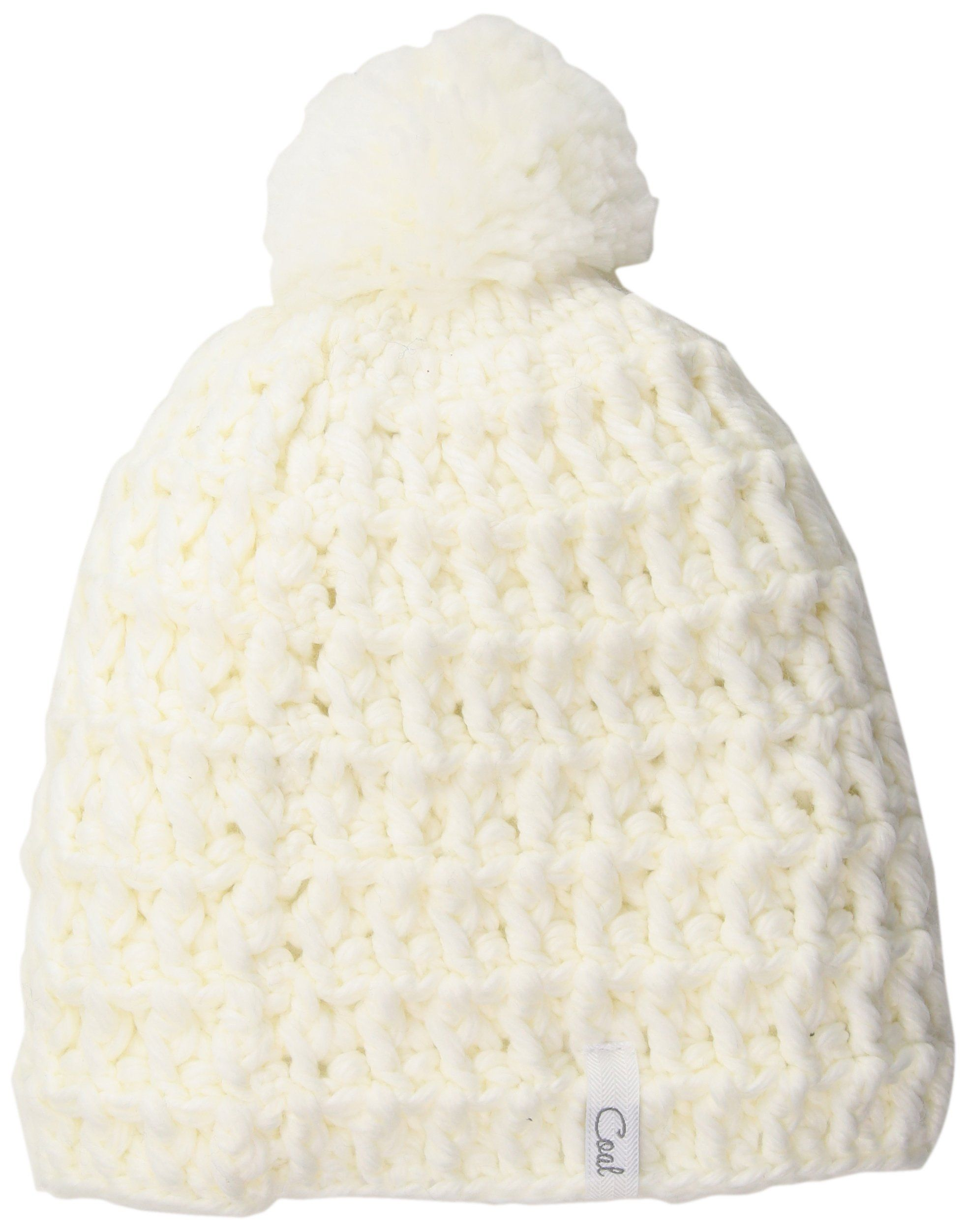 d6d4998035a Coal Women s Hand-Crocheted Waffle-Knit Beanie with Pom