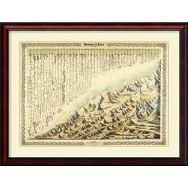 Mountains & Rivers, 1856 Framed Print