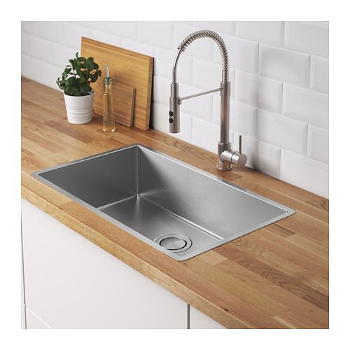 Norrsjon Inset Sink 1 Bowl Stainless Steel Shop Online Or In Store Ikea Inset Sink Kitchen Furniture Design Ikea Kitchen Sink