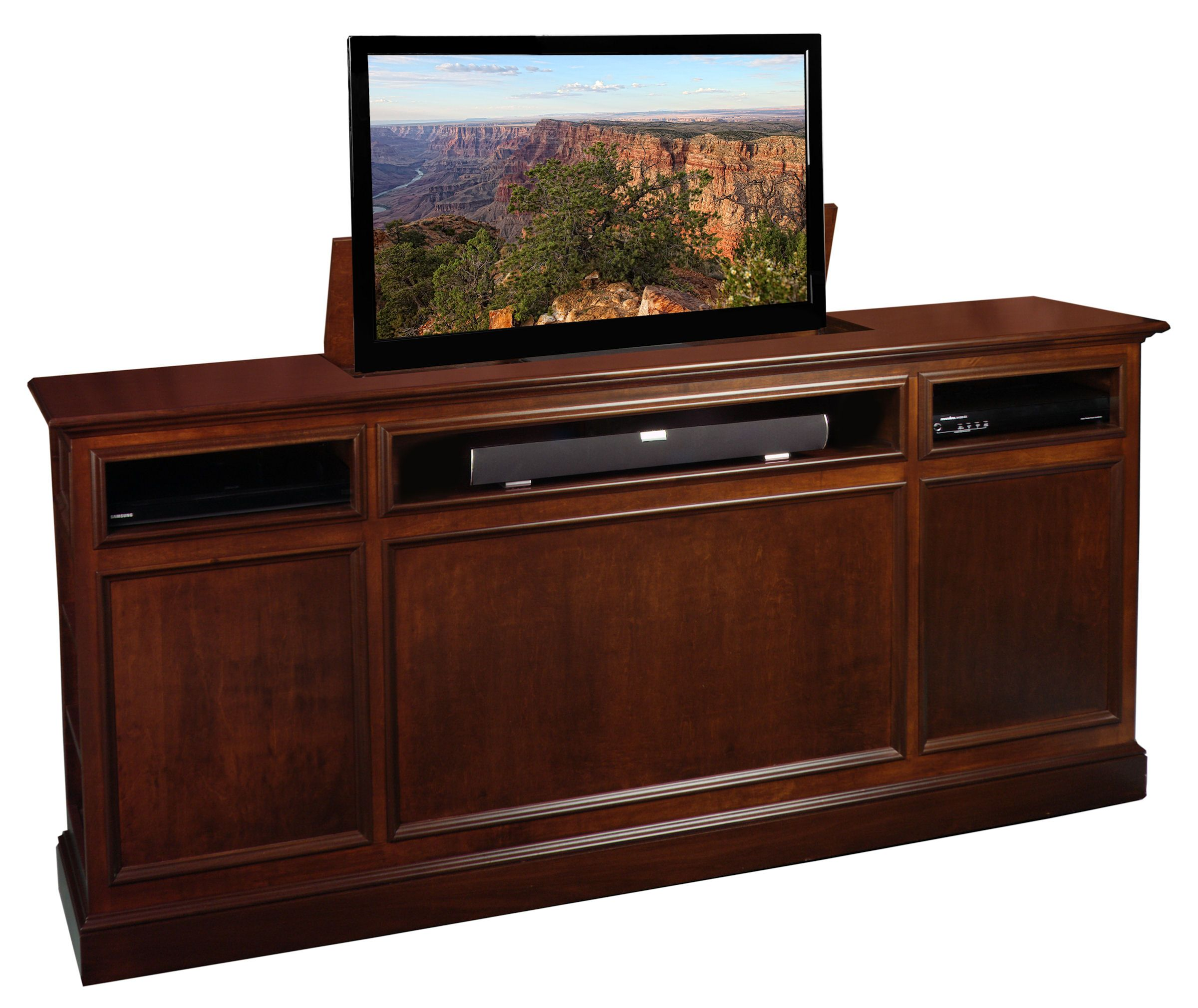 Suite TV Lift This can be used as a footboard to