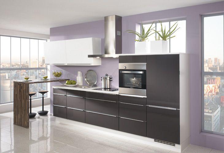 Küche in anthrazit küchenzeile www dyk360 kuechen de