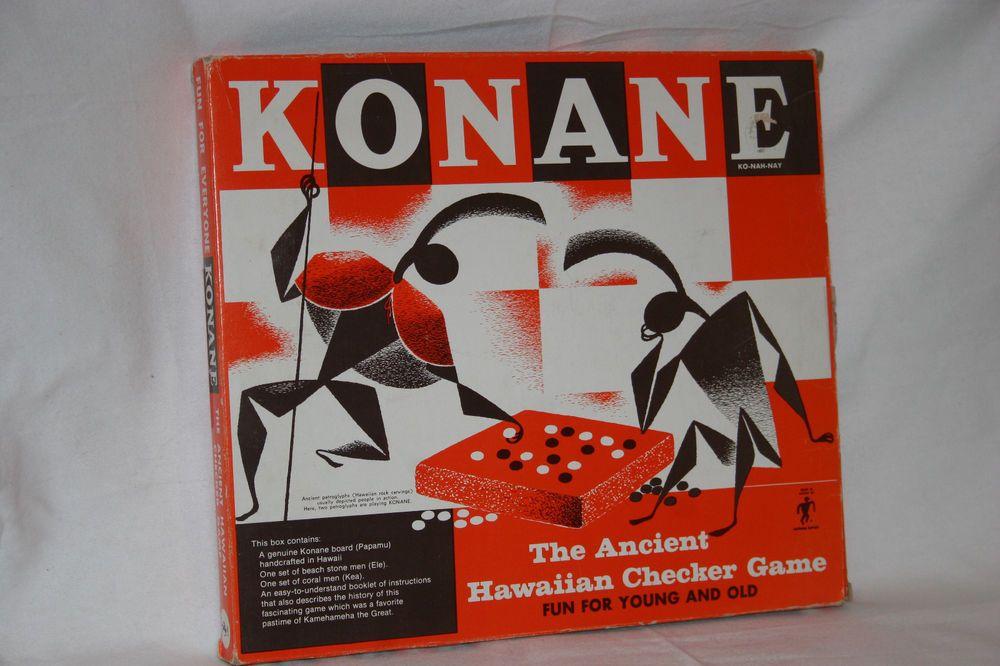 VINTAGE KONANE GAME ANCIENT HAWAIIAN CHECKER GAME MID