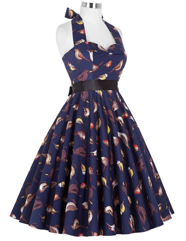 Vintage Style Swing 1950s 1960s Housewife Retro Pinup Formal EVENING ...