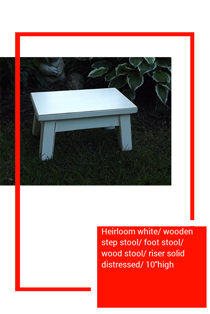 Fine Heirloom White Wooden Step Stool Foot Stool Wood Stool Gmtry Best Dining Table And Chair Ideas Images Gmtryco