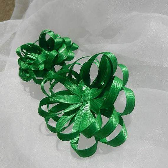 $2.80 #green #satin #gift #bows #coupon SPRING 40% off #birthdaydecorations   #uniquebirthdaydecorations   #greenbirthdaydecorations   #birthdaycraftsupply   #birthdaycraftsupplies   #craftsforbirthdaydecorations