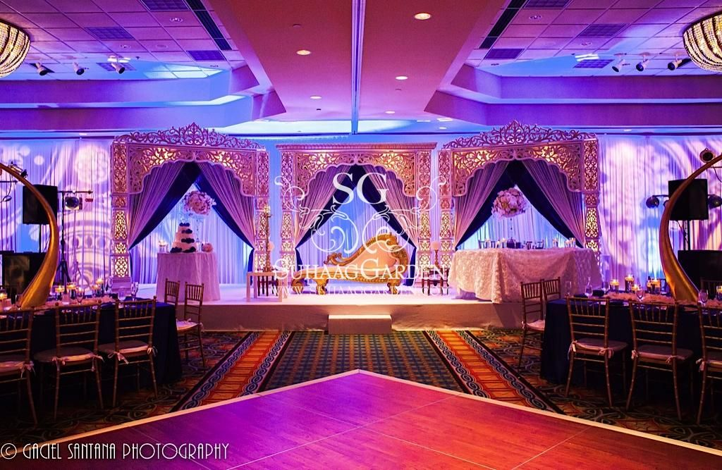 Event Decor Design Florida Indian Wedding Decorators Blue Theme Mandap Suhaag