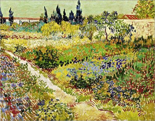 Blühender Garten mit Pfad. Arles 1888 - Vincent van Gogh