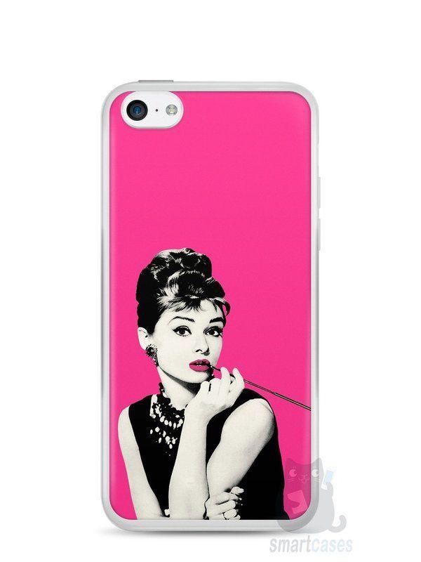 Capa Iphone 5C Audrey Hepburn #4 - SmartCases - Acessórios para celulares e tablets :)
