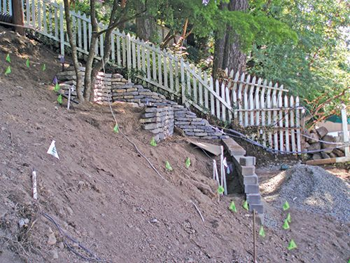 How To Build Retaining Wall Steep Hillside