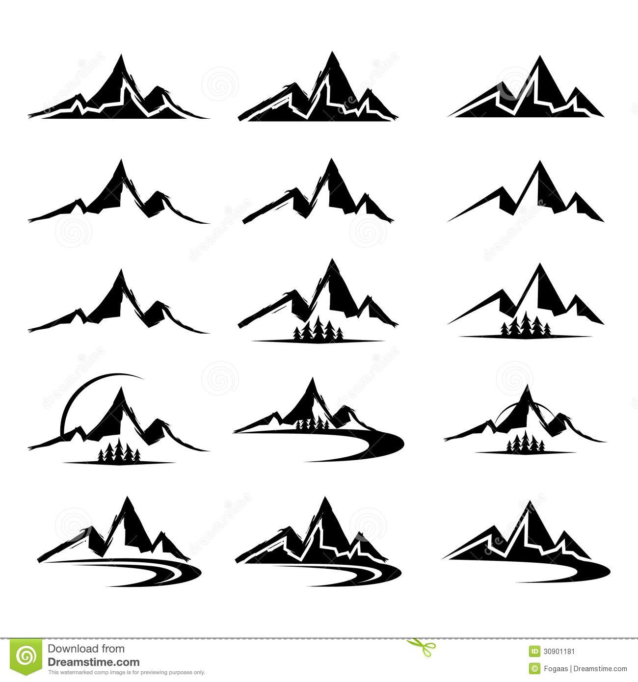 mountain silhouette Google Search Clip art, Custom