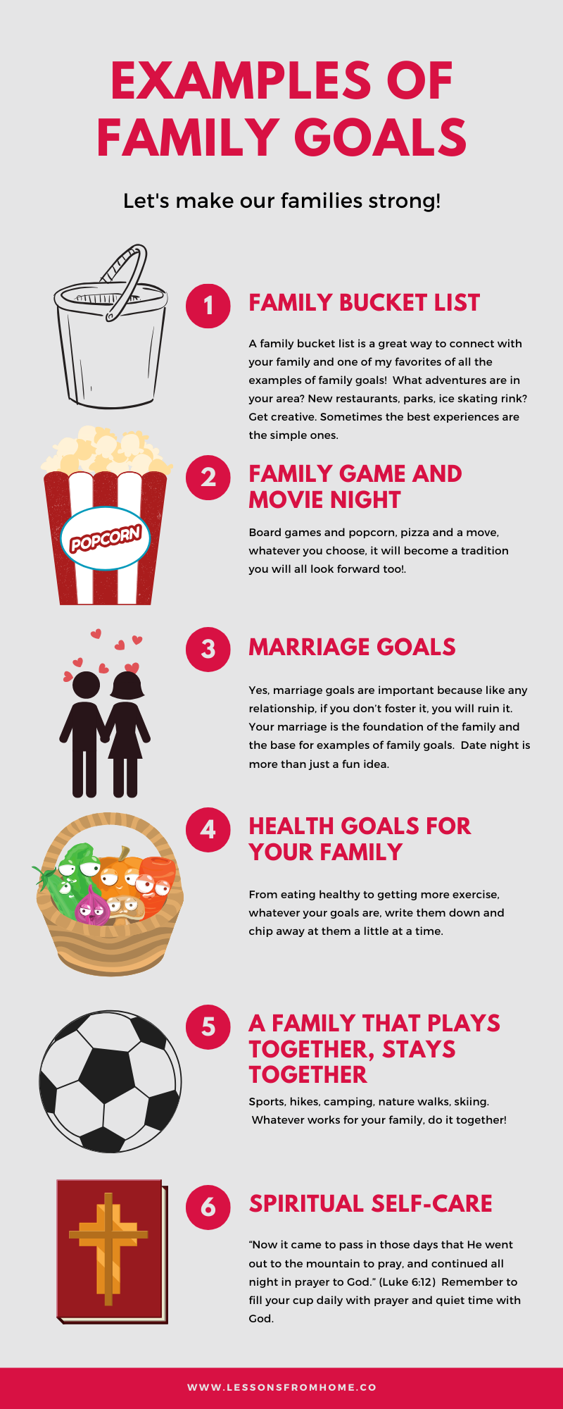 Examples of Family Goals examplesofgoals Family bucket