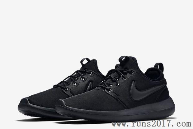 the latest 6b996 6a5fc Nike Roshe Run Two Black Women Men
