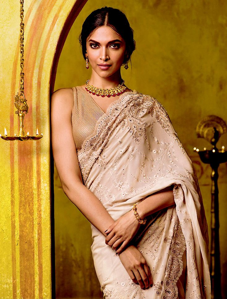 Deepika Padukone for Tanishq | Saree jacket designs latest ...