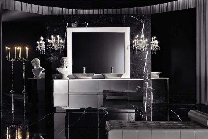 Badezimmer Vorschläge ~ Schwarzes badezimmer vorschläge im modernen italienischen stil