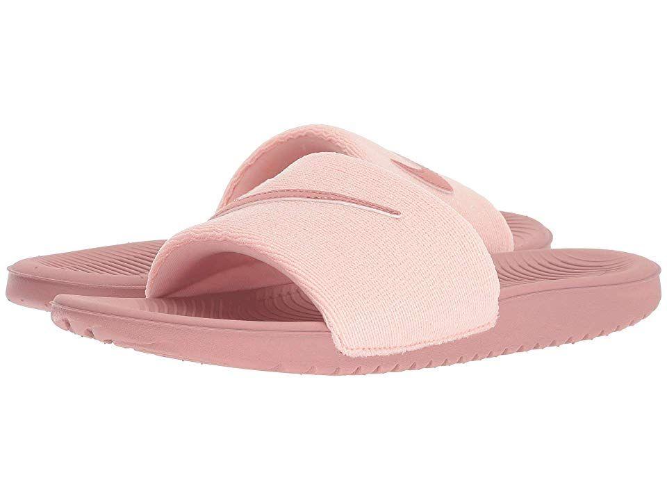 659912d4b027 Nike Kids Kawa Slide Glitter (Little Kid Big Kid) (Rust Pink Rust  Pink Storm Pink Black Black) Girls Shoes. Give those feet a post-practice  break with the ...