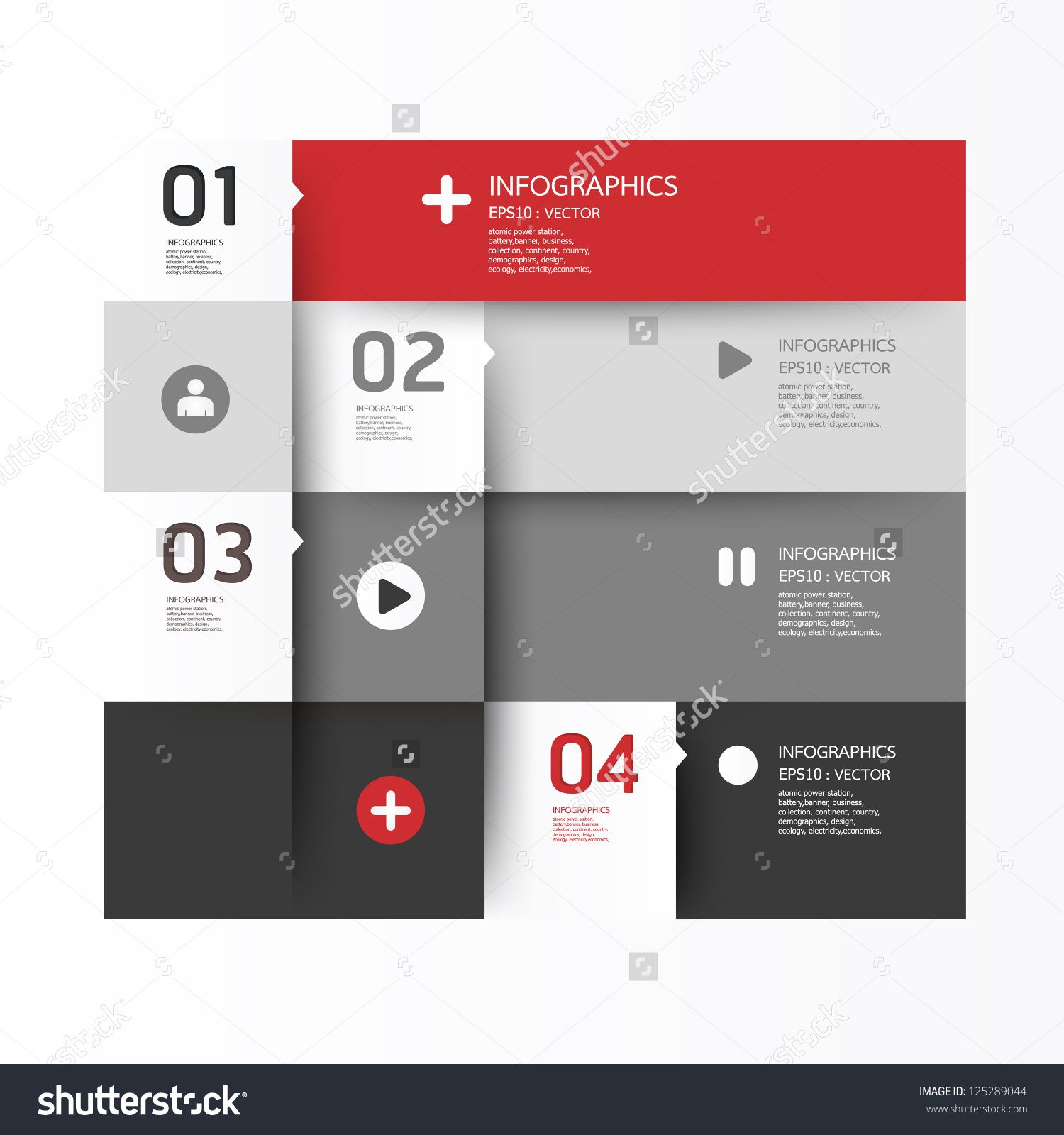 Modern Design Template / Can Be Used For Infographics / Numbered ...