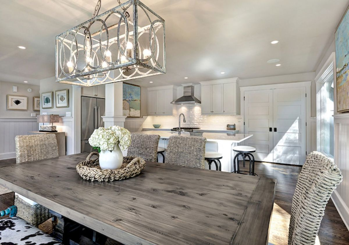 Best inspire farmhouse dining room table and decor ideas