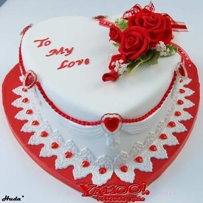 طريقة سهلة لتززين كيك عيد الحب Birthday Cake Greetings Valentines Day Cakes Valentine Cake