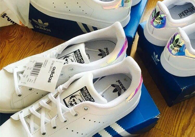 official photos 6b4a8 13ff7 Adidas Originals Stan Smith Shoes White Laser Mens and Womens