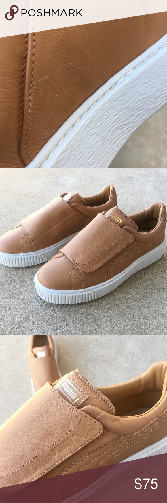 low priced 39928 9a34d Puma Basket Platform Big Strap Women's Sneakers Brand new ...