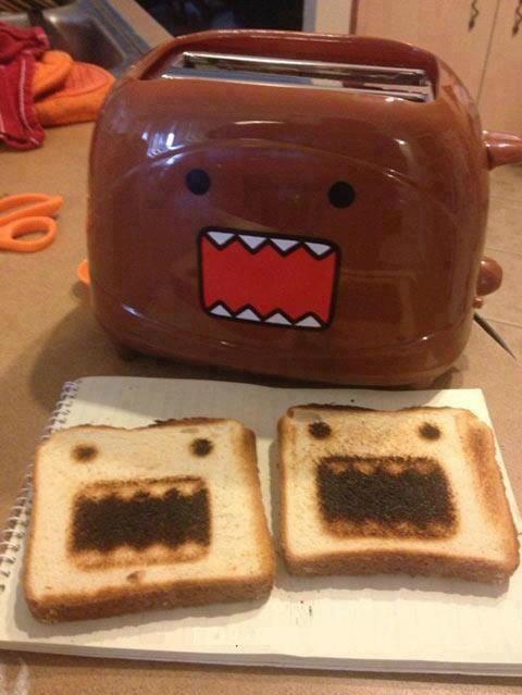 Domo-kun toaster!!