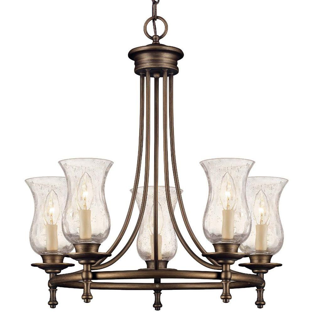 Grace 5 Light Rubbed Bronze Chandelier 14689 At The Home Depot