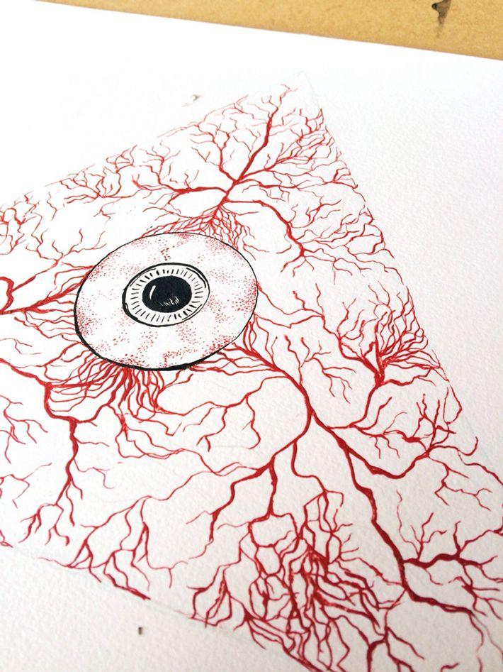 eyeball and veins