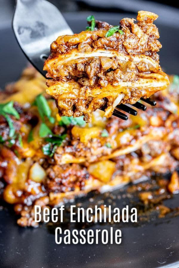 Beef Enchilada Casserole This easy, cheesy, Beef Enchilada Casserole is layered with seasoned groun