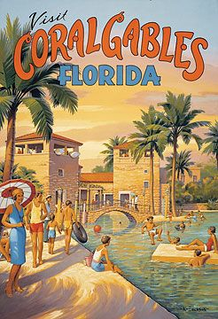 Stretched Canvas Visit Coral Gables, Florida