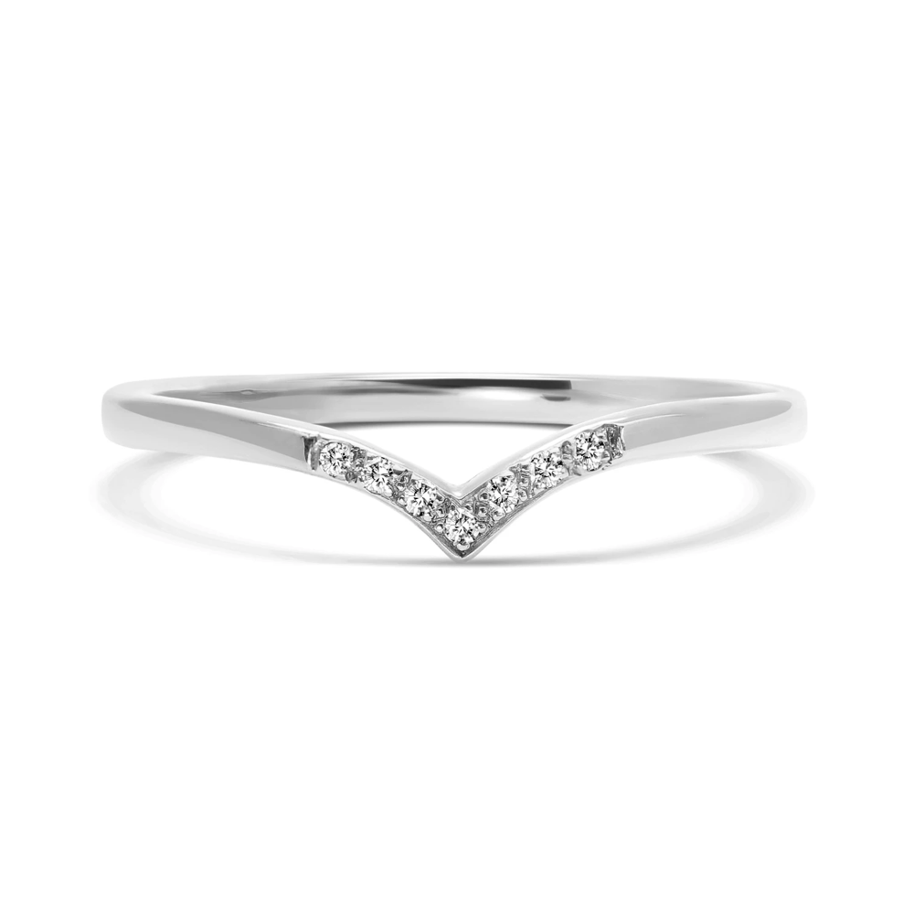 Wishbone Diamond Crown Ethical Ring, Platinum Ethical