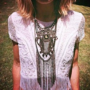 fringed necklaces