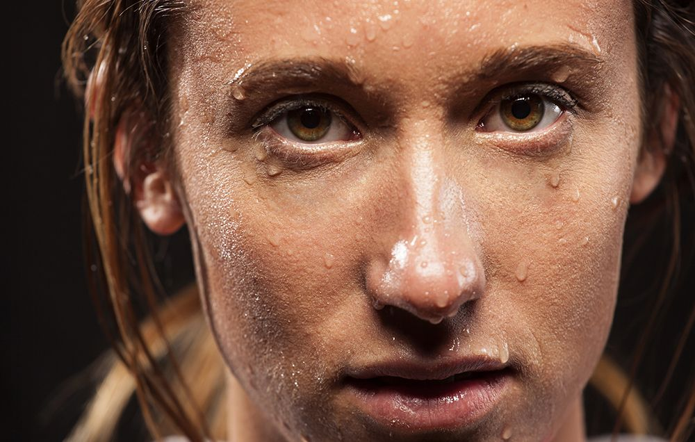 how to stop face sweating during exercise