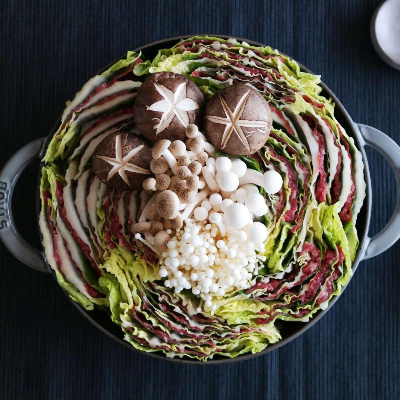 밀푀유나베 요리법 식품 아이디어 케이터링 음식 음식