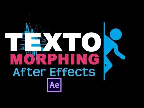 Shape Morphing Text After Effects Tutorial - YouTube | After