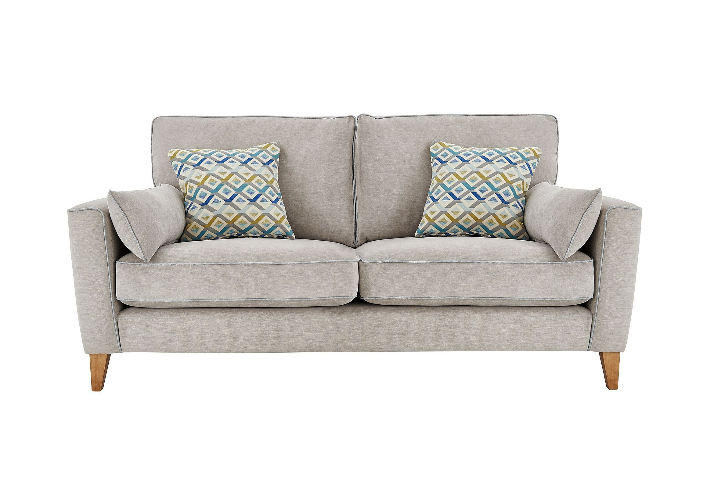 Clean Contemporary Scandi Style Compact Sofa Perfect For Smaller Es Soft Upholstery In Three