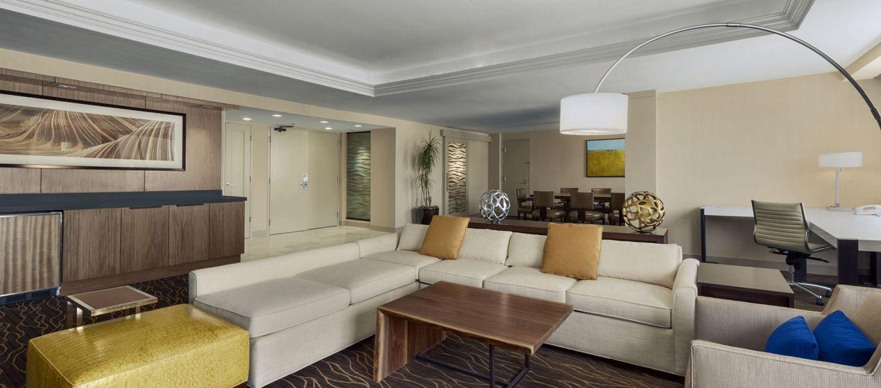 Hilton Salt Lake City Center Hotel Ut Conrad Suite Living Room