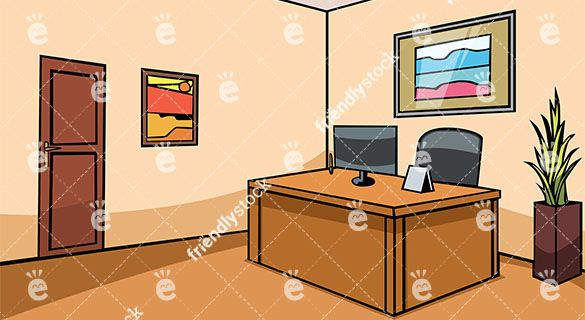 Empty Office Reception Desk Vector Background Vector Backgrounds