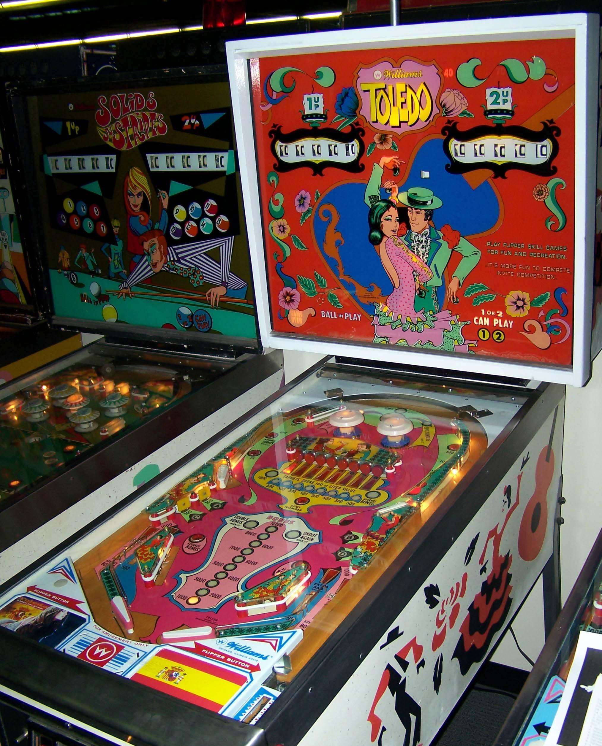 1975 Toledo Williams Pinball Machine Arcade Game Room Pinball