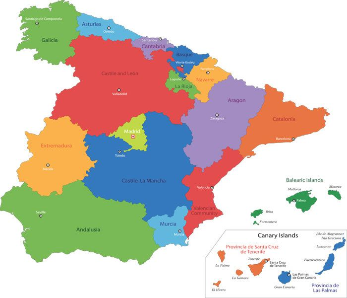 Map Of Spain With States.Free Maps Of Spain Download High Quality Spain Image Maps Cac