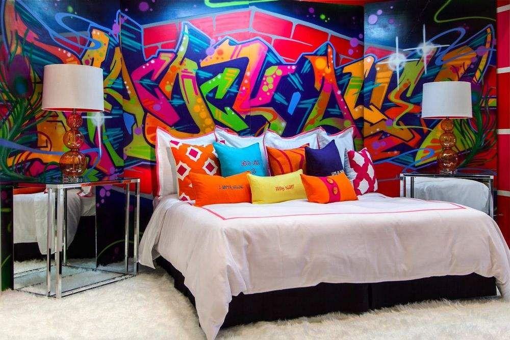 внутренняя картинки комнаты с граффити это