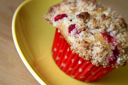 Cranberry Muffins with Almond Streusel Topping