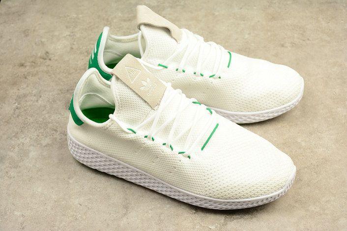 d10f085161ab7 x sneaker Adidas PW TENNIS HU HUMAN RACE BA7828 White Green Shoe ...