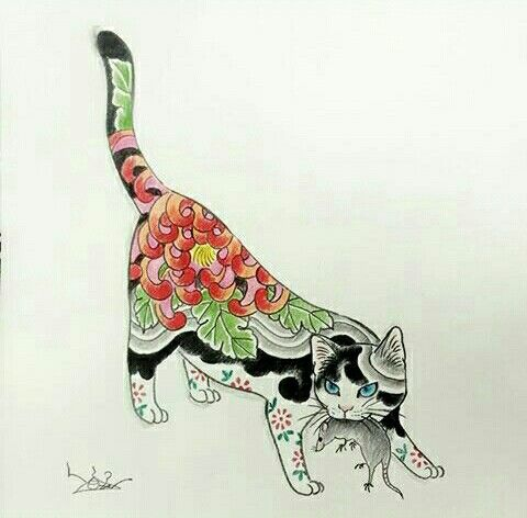 Monmon Cat Cat Tattoo Cat Art Cat Drawing