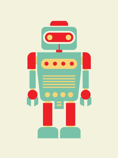 retro robot illustration robot pinterest robot